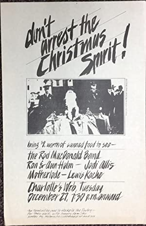 Don't arrest the Christmas Spirit [poster]