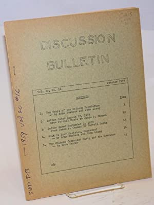 SWP discussion bulletin, vol. 20, no. 16 (October, 1959): Socialist Workers Party