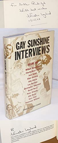 Gay Sunshine Interviews; volume 1 [signed by Leyland]