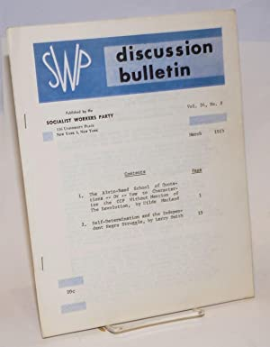 SWP discussion bulletin, vol. 24, no. 8 (March, 1963): Socialist Workers Party