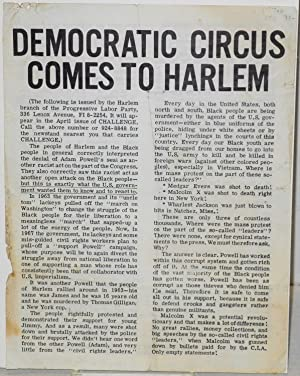 Democratic circus comes to Harlem