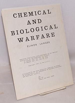 Chemical and biological warfare: Langer, Elinor