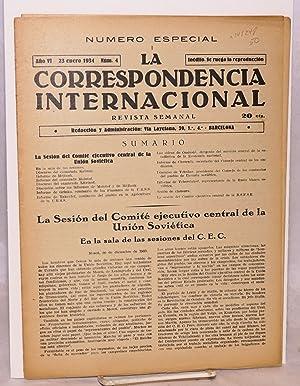 La correspondencia internacional; revista semanal, a?o VI, num. 4, 23 enero 1934