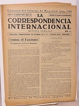 La correspondencia internacional; revista semanal, a?o VI, num.10, 23 febrero 1934