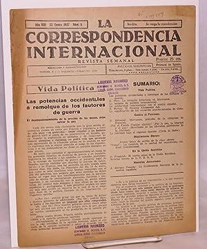La correspondencia internacional; revista semanal, a?o VIII, n?m.5, 22 Enero 1937