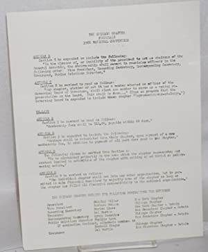 Proposals, 1966 national convention [handbill/letter]: Daughters of Bilitis, Chicago Chapter