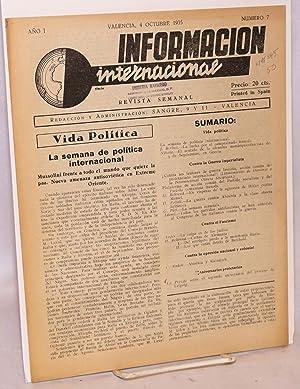 Informacion internacional; revista semanal, a?o I, numero 7, 4 Octubre 1935