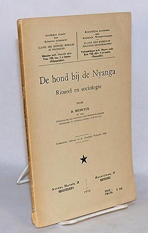 De hond bij de Nyanga; ritueel en sociologie: Biebuyck, D.