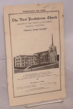"The First Presbyterian Church: Broadway and Twenty-Sixth Street, Oakland, California ""Oakland&..."