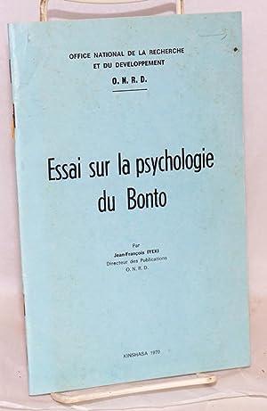 Essai sur la psychologie du Bonto: Iyeki, Jean-Francois