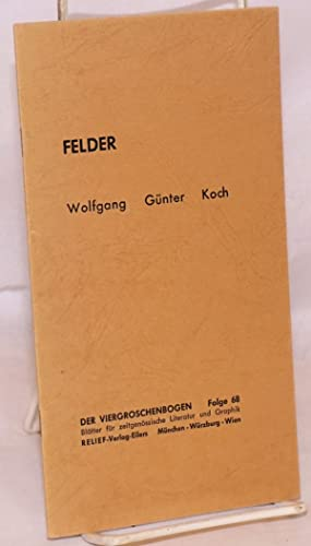 Felder: Koch, Wolfgang G?nter