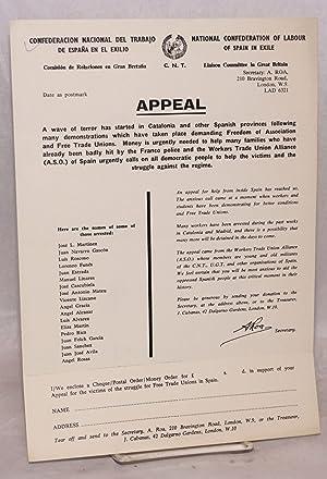 Appeal: Confederacion Nacional de Trabajo de Espa?a en el Exilio. Comisi?n de Reaciones en Gran ...