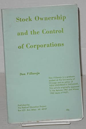 Stock ownership and the control of corporations