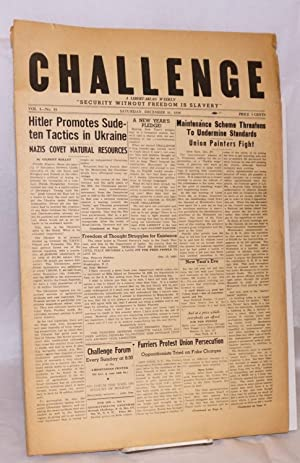 Challenge: a libertarian weekly. Vol. 1, no. 35 (December 31, 1938)