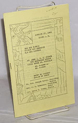 Order of service, January 17, 1965: St. John A. M. E. Church