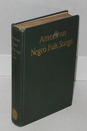 American Negro folk-songs: White, Newman I.