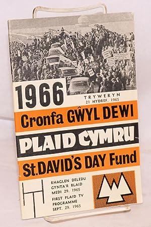 Cronfa Gwyl Dewi 1966 / 1966 St. David's Day fund: Plaid Cymru