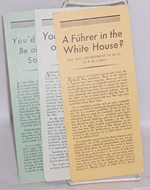 Set of three pamphlets]: Keep America Out