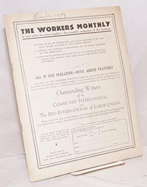 The workers monthly. Vol.4, no. 1, November, 1924