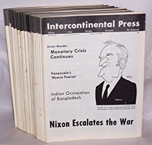 Intercontinental Press. Vol. 10, no. 1 (January 10, 1972) to vol. 10, no. 47 (December 25, 1972): ...