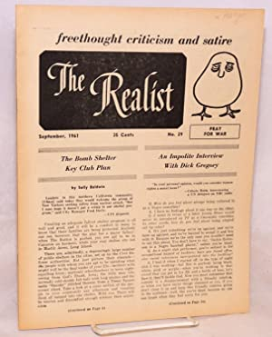 The realist [no.29] freethought criticism and satire. September, 1961. Pray for war: Krassner, Paul...