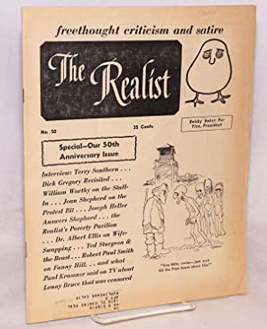 The Realist [no.50], freethought criticism and satire, Bobby Baker for Vice, President May 1964: ...