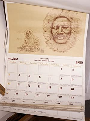 1969 Negro historical calendar; famous Americans and their significant contributions to the history...
