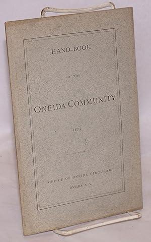 Hand-book of the Oneida Community: Oneida Community