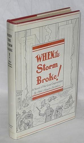 When the storm broke; a novel of the Great Depression, 1929-1933: Shapiro-Bertolini, Ethel