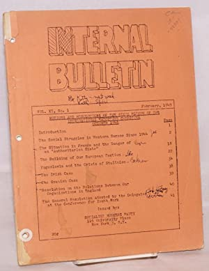 Motions and resolutions of the sixth plenum of the International Executive Committee, October, 1948...