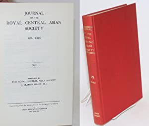 Journal of the royal central Asian society vol. xxix. 1942 [reprint titling] / January, 1942, ...