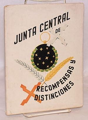 Junta central de recompensas y distinciones: Spain. Vicesecretaria de Educacion Popular