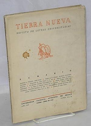 El asunte; in Tierra Nueva, a?o III, nums, 13 y 14: Villaurrutia, Xavier