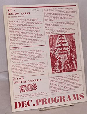 CHS Programs: December 1984 (mailer): California Historical Society