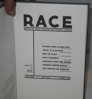 Race; devoted to social, political and economic equality, 1935-1936