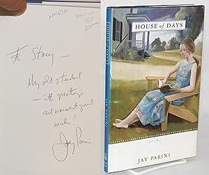 House of days: poems: Parini, Jay