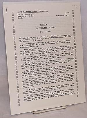 Bolivia: Communiqu? from the E.L.N.