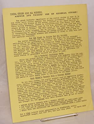 Postal strike aids all workers! Answer any troops' use by general strike! [handbill]: ...
