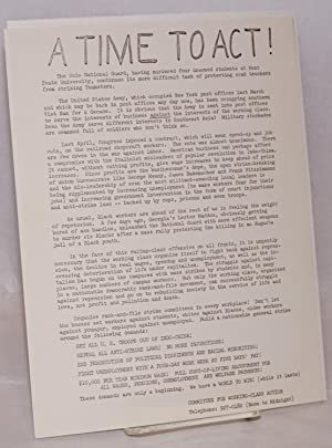 A time to act! [handbill]: Committee for Working-Class Action