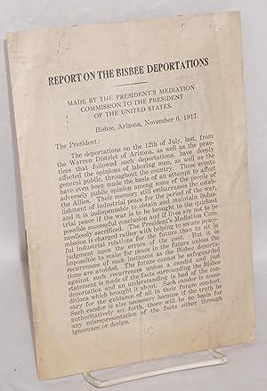 Report on the Bisbee deportations. Made by: Frankfurter, Felix]