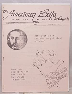 The American exile in Canada. Vol. 1, no. 7 (December 15, 1968): Union of American Exiles