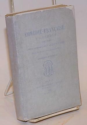 La Com?die-Fran?aise a Londres (1871-1879).; Journal in?dit de E. Got; journal de F. Sarey. Publi?...