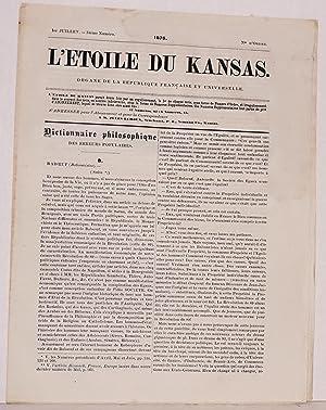 L' etoile du Kansas. Organe de la Republique Fran?aise et universelle. 1er Juillet - 34?me Num...
