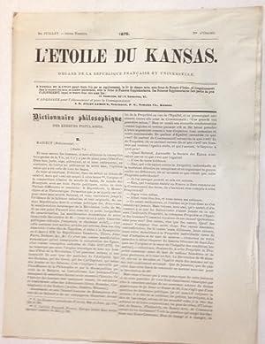 L'etoile du Kansas. Organe de la Republique Fran?aise et universelle. 1er Juillet - 34?me Num?...