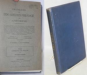 Pali Literatur und Sprache: Geiger, Wilhelm