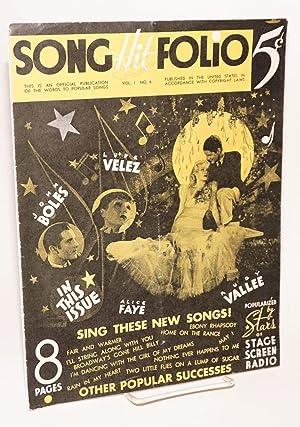 song hit folio; vol. I no. 4: Velez, Lup?]