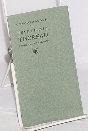 Concord books, Henry David Thoreau: Hudson, Hannah R.