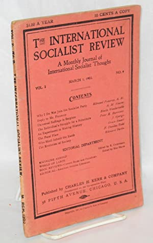 The international socialist review, a monthly journal of international socialist thought. Vol., 2, ...