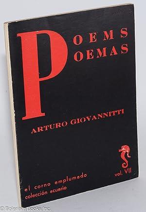 Poems/Poemas. Traducci?n, Agust? Bartra: Giovannitti, Arturo