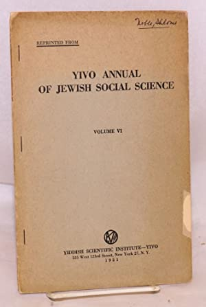 Rabbi Yehiel Mikhel Epstein, an educator and advocate of Yiddish in the 17th Century reprinted from...